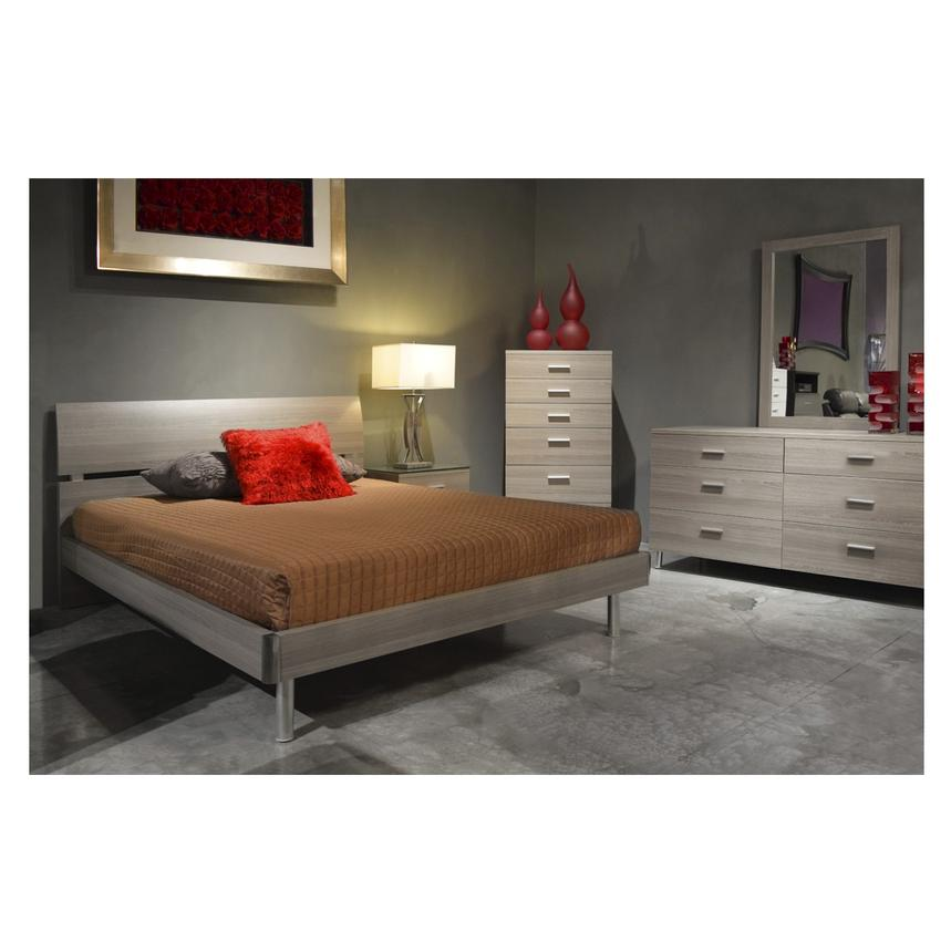 Bellmar Gray Queen Platform Bed  alternate image, 2 of 5 images.