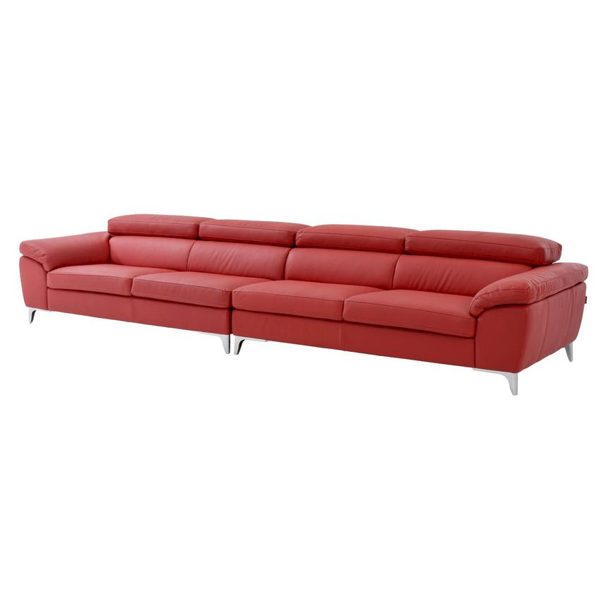 Costa Red Oversized Sofa  main image, 1 of 7 images.