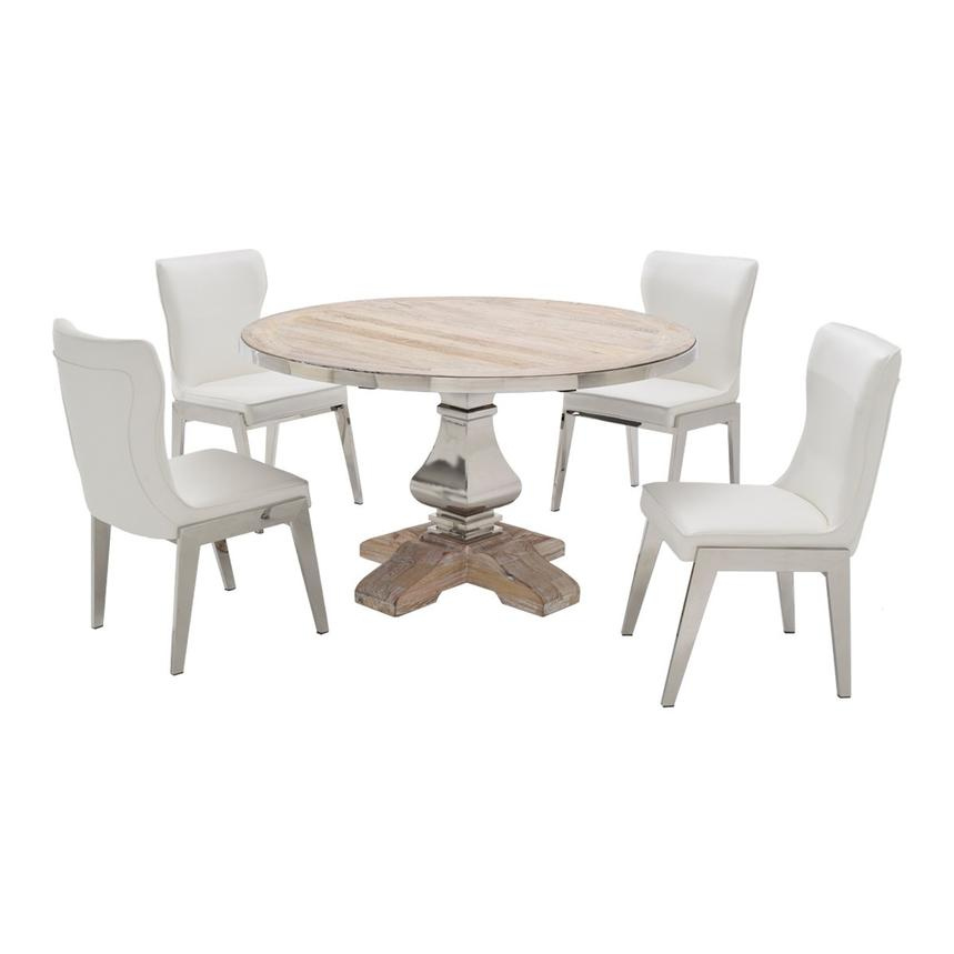 Wilma Onyx 5 Piece Formal Dining Set El Dorado Furniture