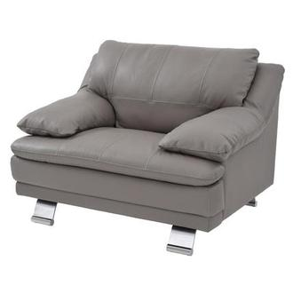 Rio Light Gray Leather Occasional Chair