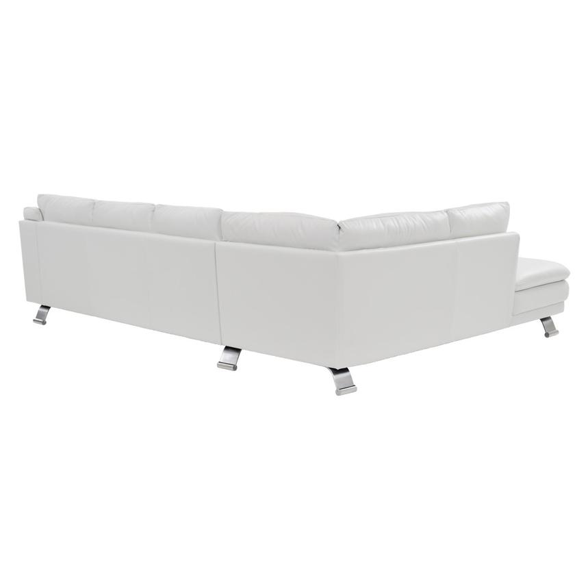 Rio White Leather Sofa w/Left Chaise  alternate image, 2 of 8 images.
