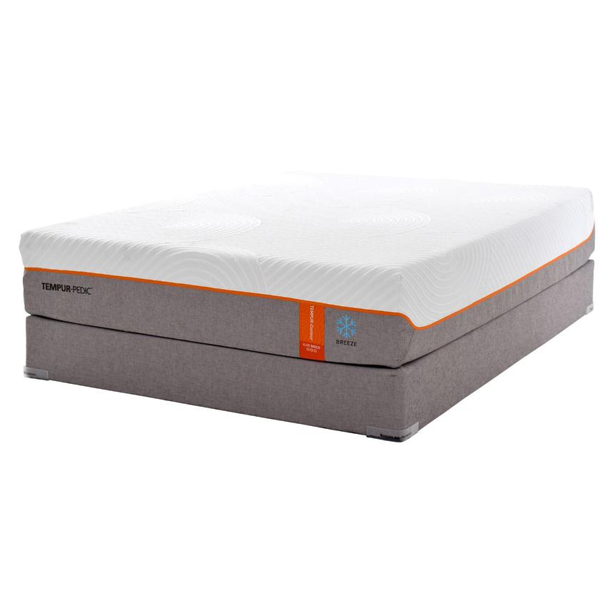 Contour Elite Breeze Memory Foam Queen Mattress Set w/Regular Foundation by Tempur-Pedic  main image, 1 of 5 images.