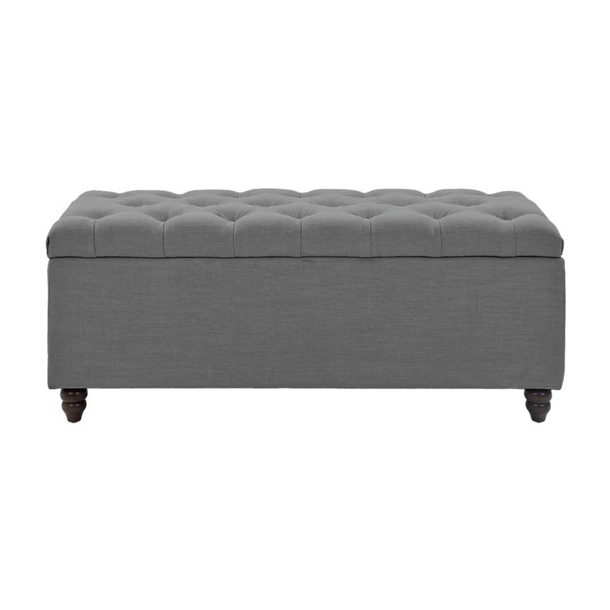 Park Avenue Gray Storage Bench  main image, 1 of 7 images.