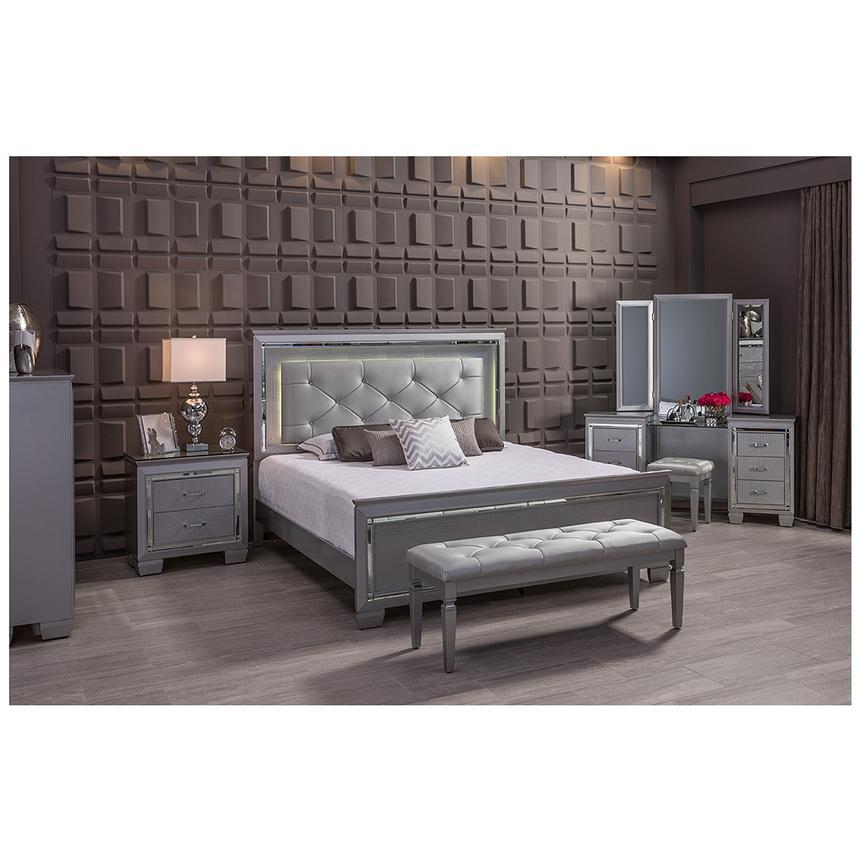 isabel gray king panel bed alternate image 2 of 8 images - King Panel Bed