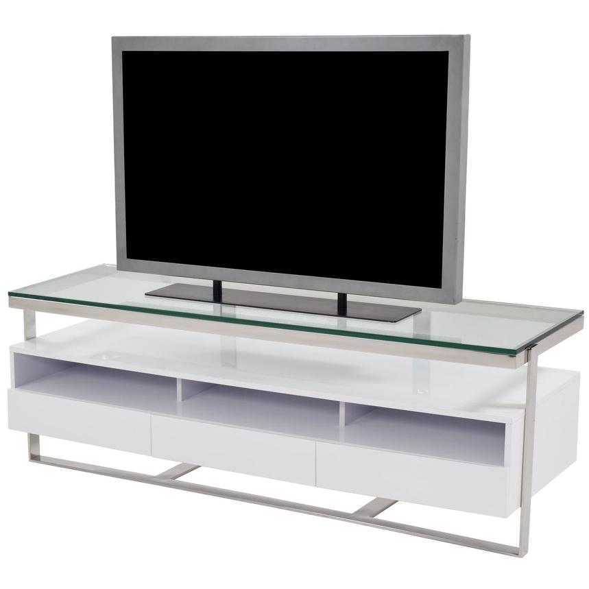 Calypso White TV Stand  alternate image, 2 of 5 images.