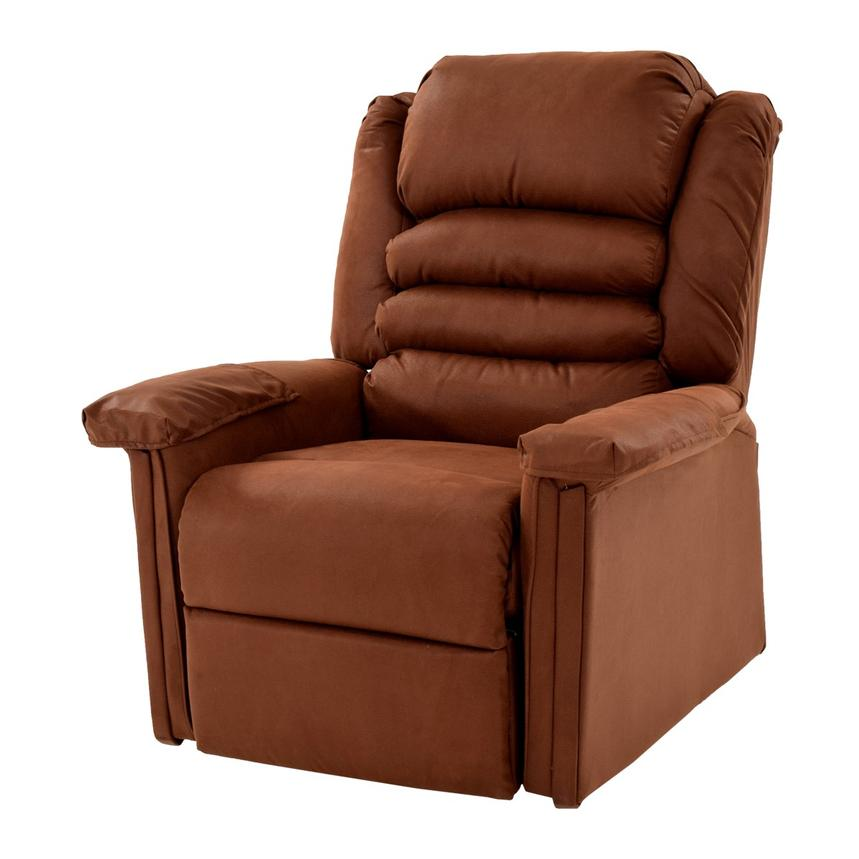 recliner badcock chair electric products vinyl lift brown this more feature alleviate