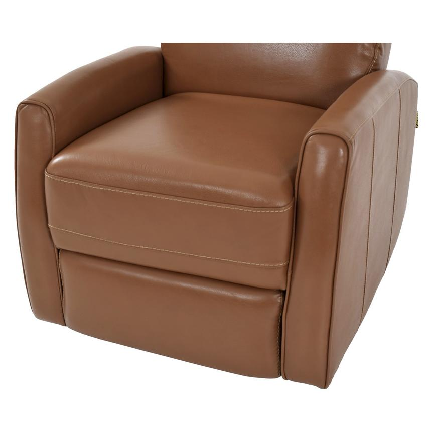 Lucca Brown Power Motion Leather Recliner  alternate image, 6 of 7 images.
