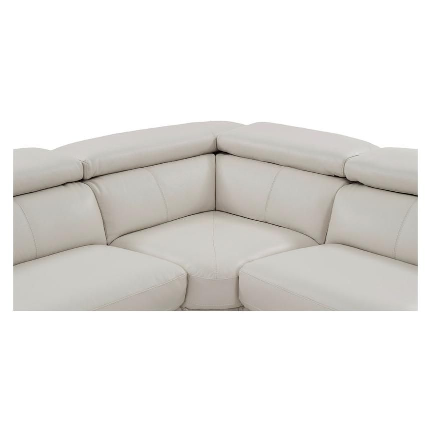 Nathan Cream Power Motion Leather Sofa w/Right & Left Recliners  alternate image, 7 of 10 images.