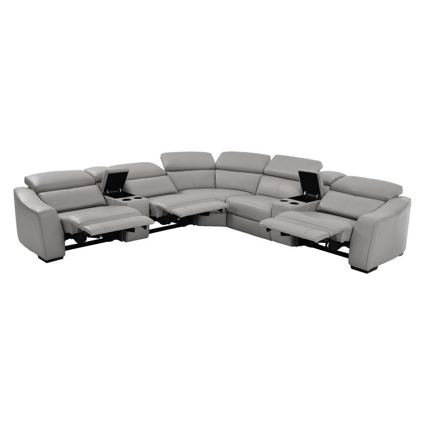 James Gray Power Motion Leather Sofa w/Right & Left Recliners  alternate image, 2 of 8 images.