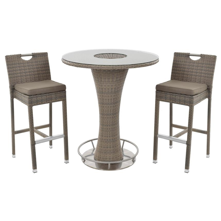 Neilina Brown 3-Piece Patio Set w/ Ice bucket  main image, 1 of 10 images.