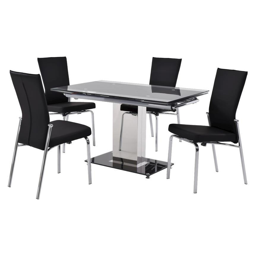 Antonia Black 5-Piece Casual Dining Set  main image, 1 of 12 images.