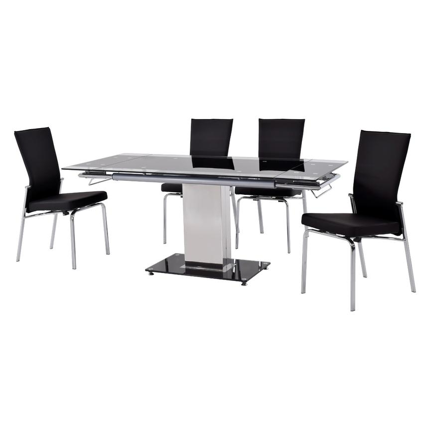 Antonia Black 5-Piece Casual Dining Set  alternate image, 2 of 12 images.