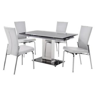 Antonia White 5-Piece Casual Dining Set