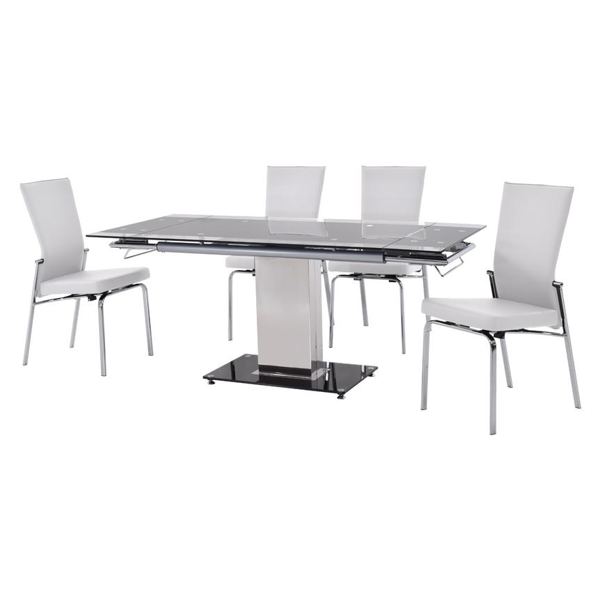 Antonia White 5-Piece Casual Dining Set  alternate image, 2 of 13 images.
