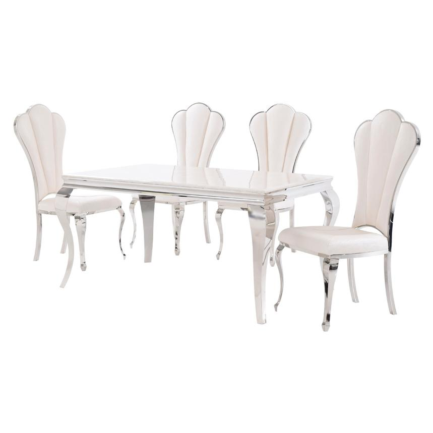Lizbon/Raegan 5-Piece Formal Dining Set  alternate image, 2 of 11 images.
