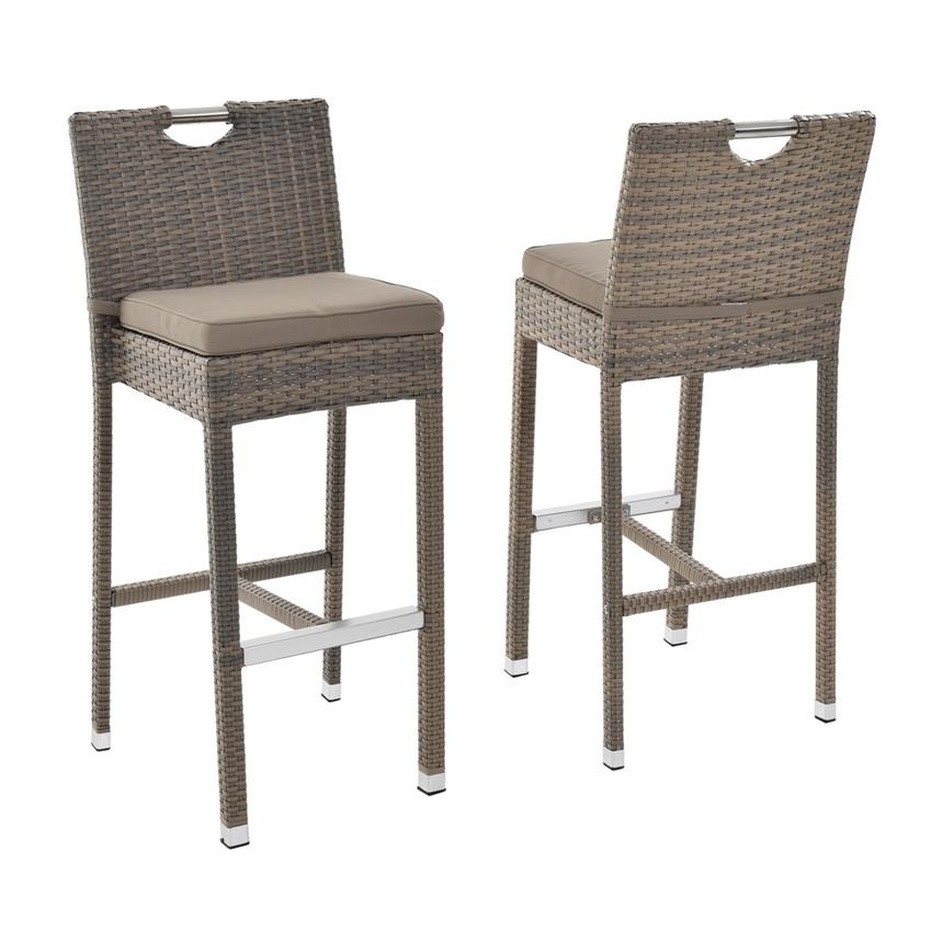 Neilina Brown 3-Piece Patio Set w/ Ice bucket  alternate image, 6 of 10 images.