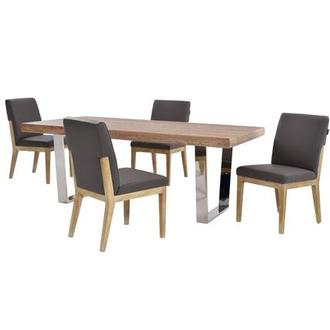 Vela/Suria Dark Gray 5-Piece Formal Dining Set