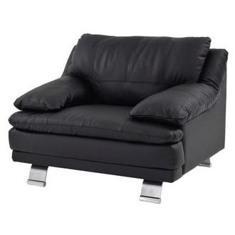Rio Black Leather Occasional Chair