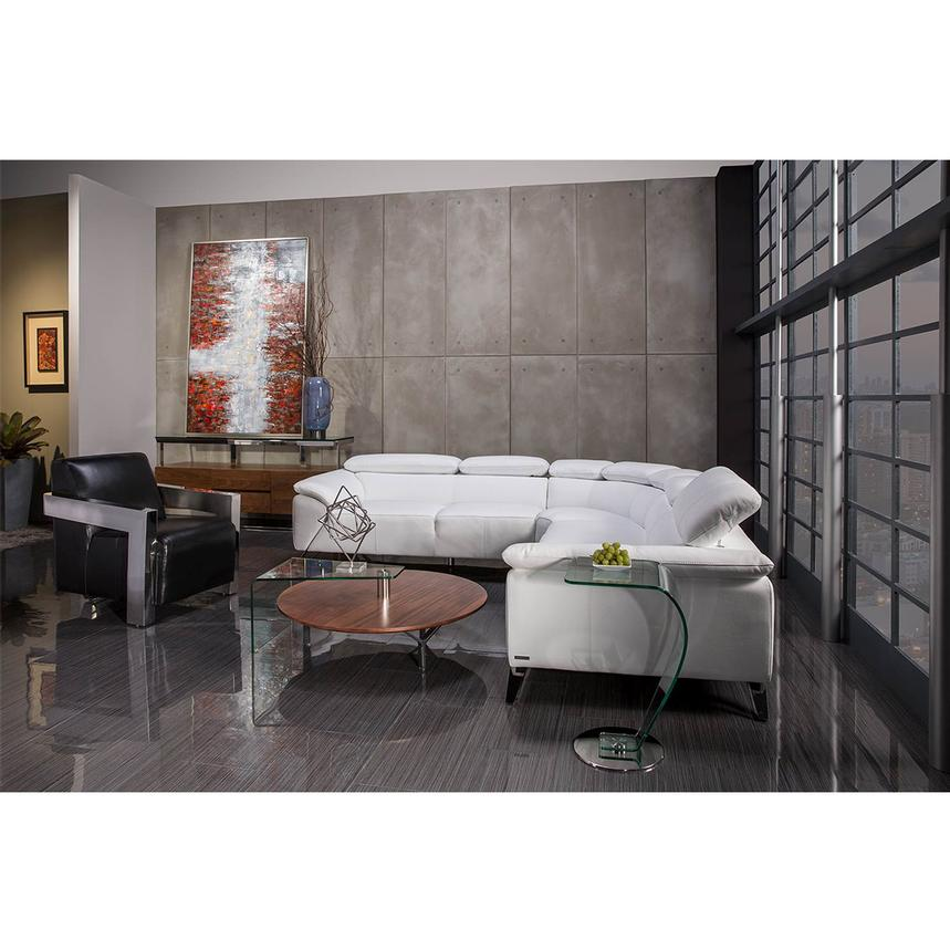 Delightful Tesla White Oversized Leather Sofa Alternate Image, 2 Of 8 Images.