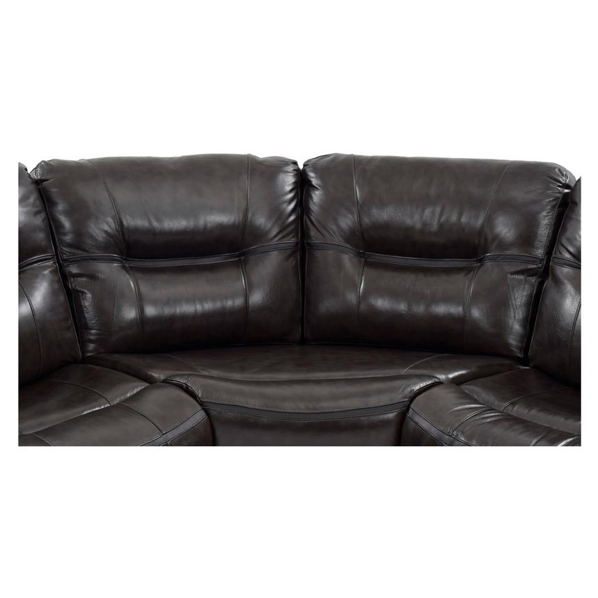 Houston Dark Gray Power Motion Leather Sofa W/Console Alternate Image, 6 Of  11