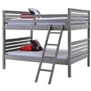 Montauk Gray Full Over Full Bunk Bed Made in Brazil  main image, 1 of 6 images.