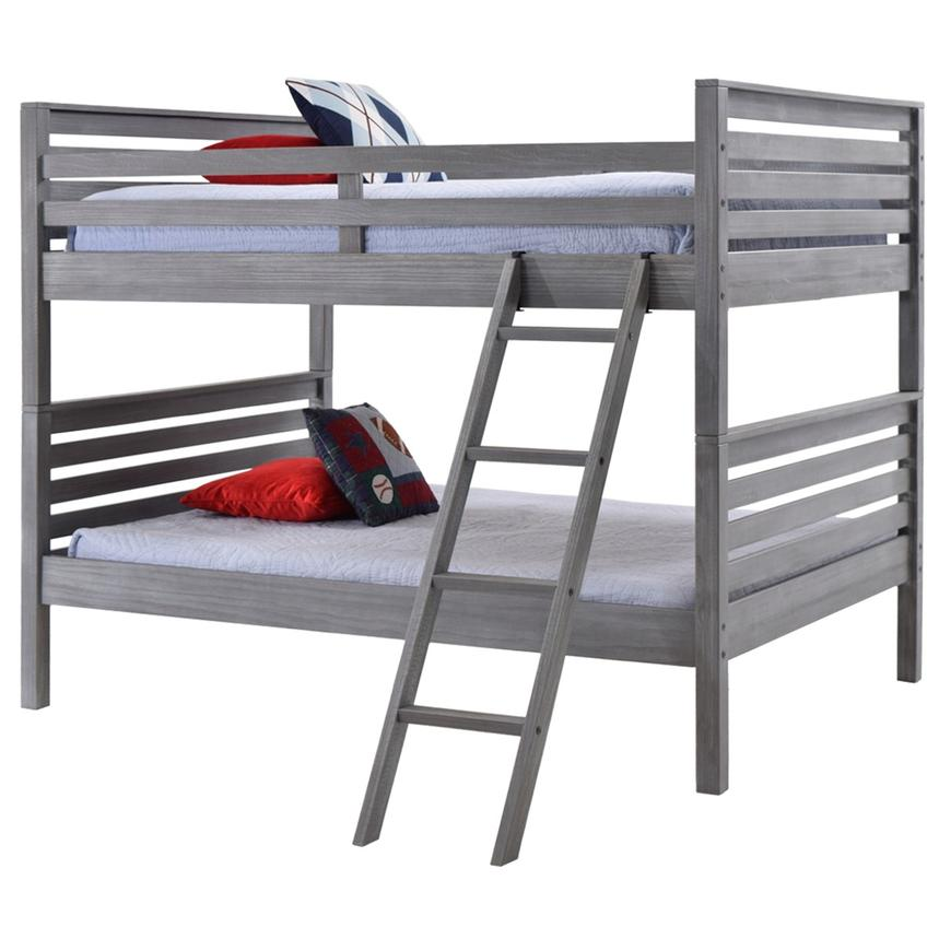 Montauk Gray Full Over Full Bunk Bed Made in Brazil  main image, 1 of 5 images.