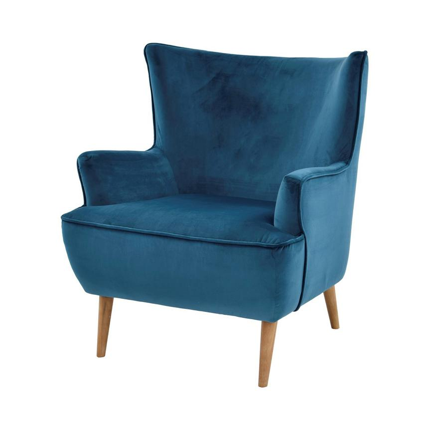 Exceptional Zita Blue Accent Chair Main Image, 1 Of 7 Images.