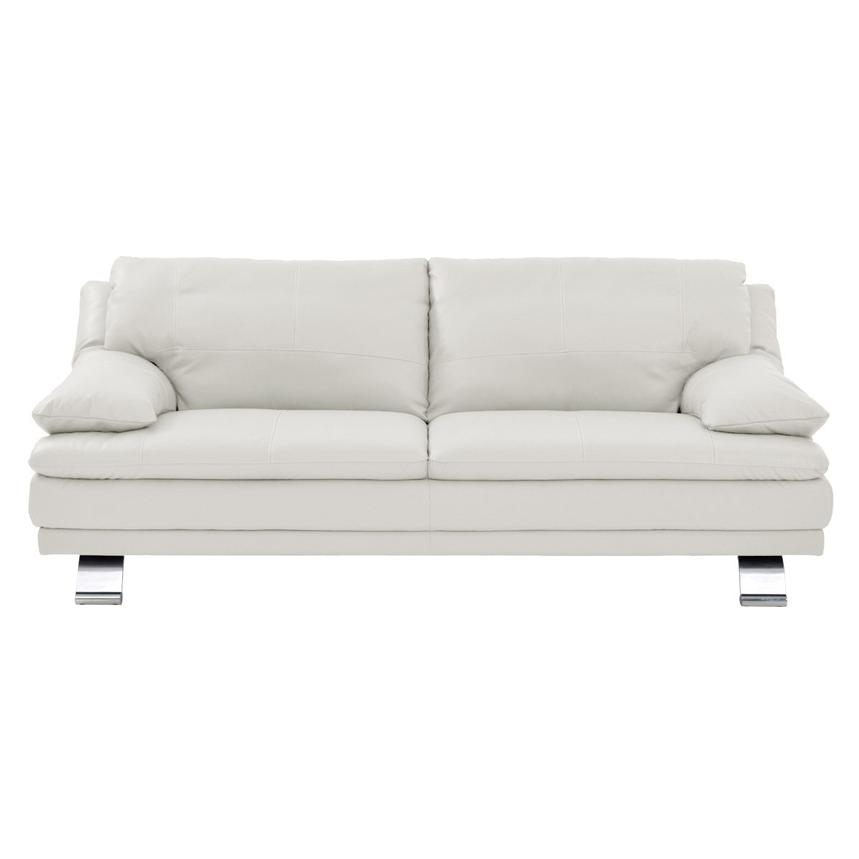 Rio White Leather Sofa  alternate image, 2 of 6 images.