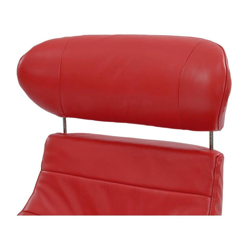 Enzo Red Leather Swivel Chair  alternate image, 6 of 9 images.