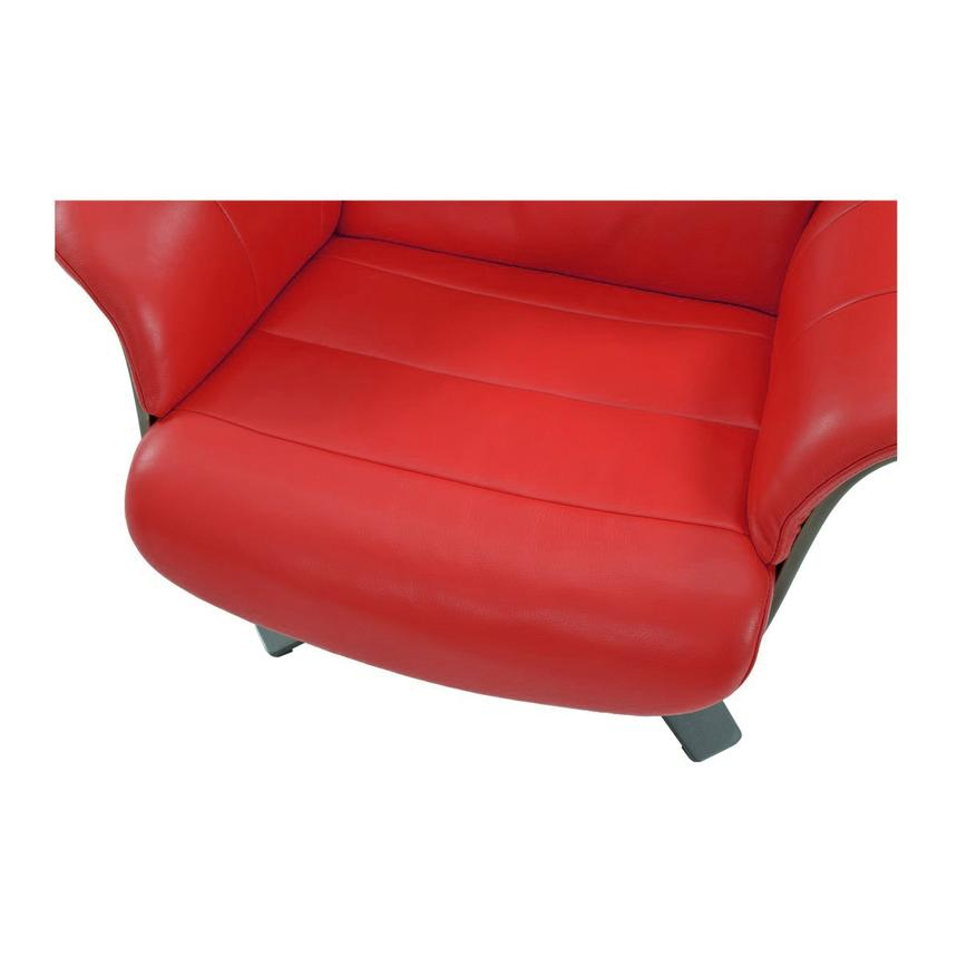 Enzo Red Leather Swivel Chair Alternate Image, 7 Of 10 Images.
