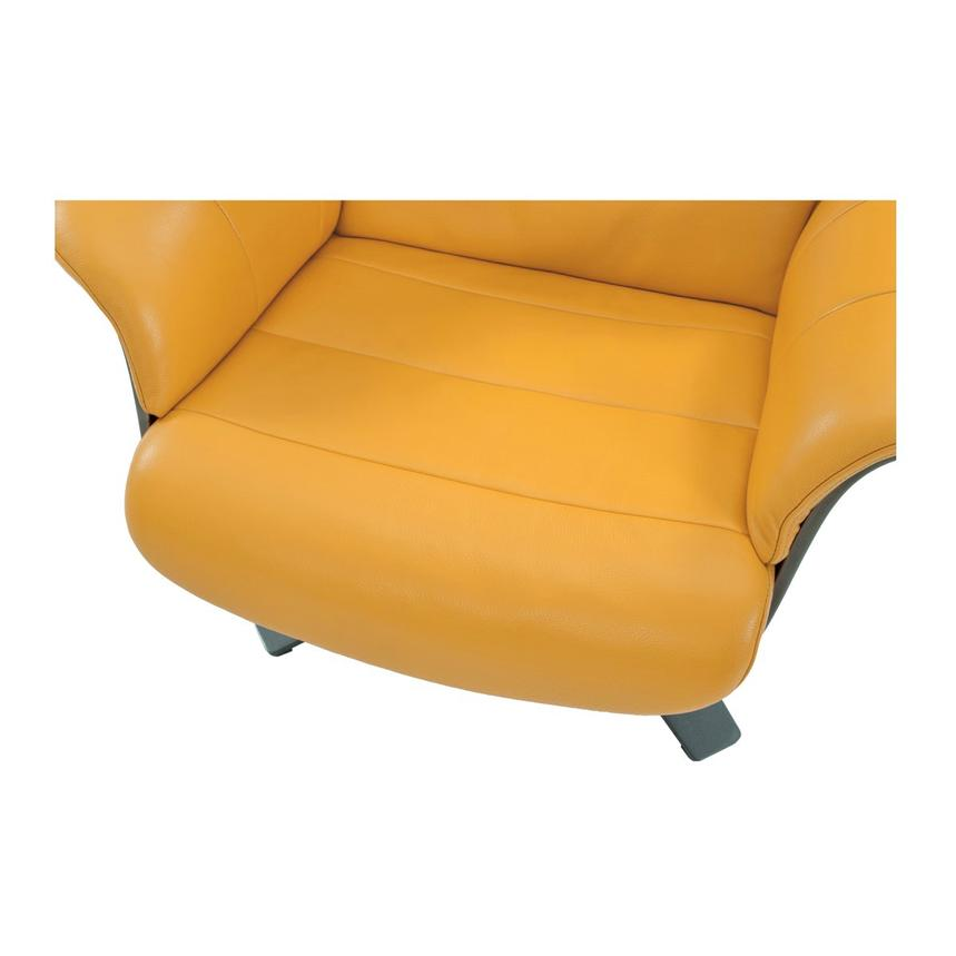 Good Enzo Yellow Leather Swivel Chair Alternate Image, 7 Of 10 Images.