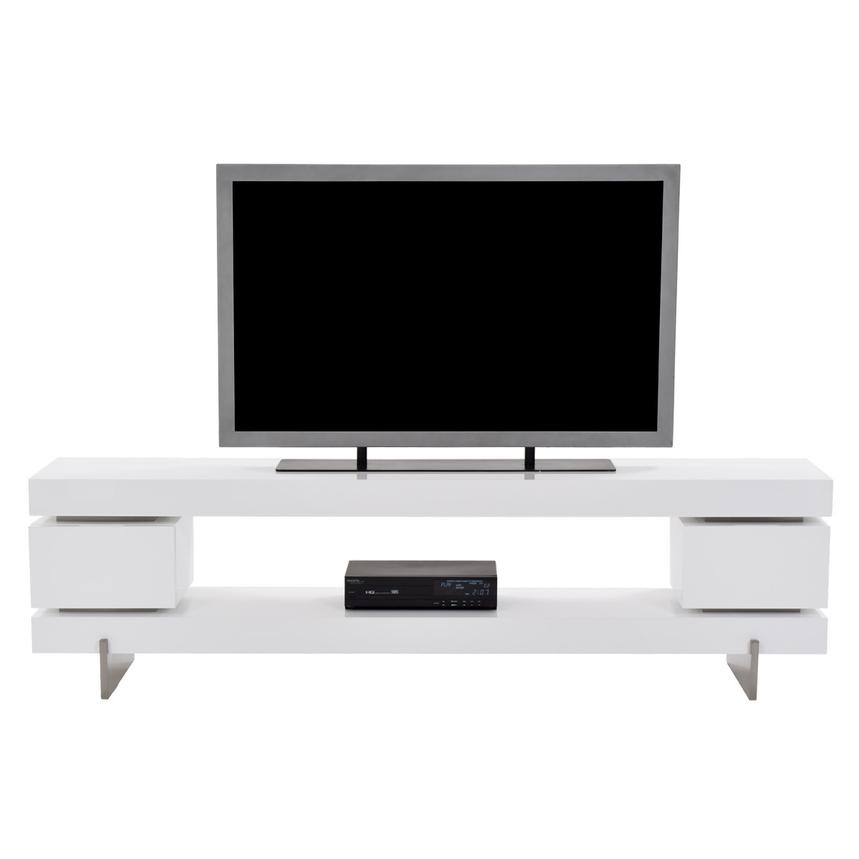 Darius White Large TV Stand  main image, 1 of 7 images.