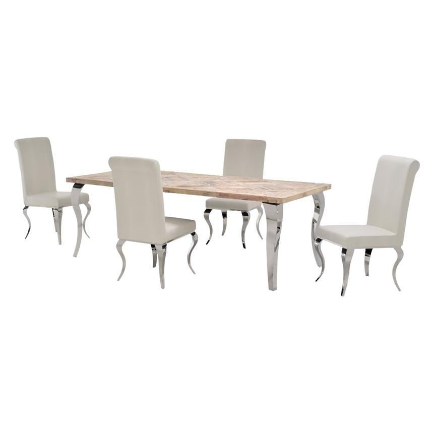 Everest/Lizbon 5-Piece Formal Dining Set  main image, 1 of 13 images.