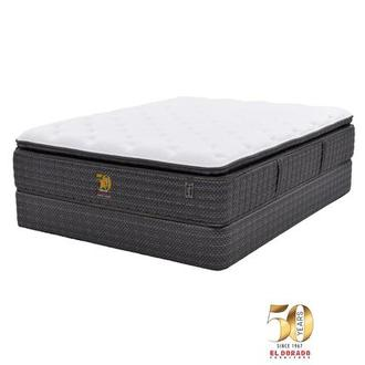 50th Anniversary Soft Queen Mattress Set w/Regular Foundation by Carlo Perazzi