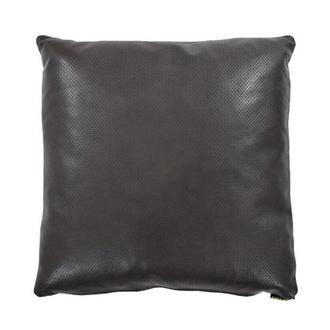 Zoe Gray Leather Accent Pillow