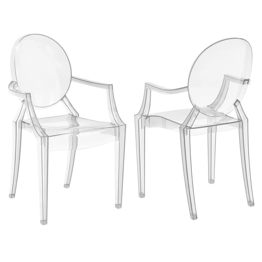 Isabella Clear Arm Chair  main image, 1 of 5 images.