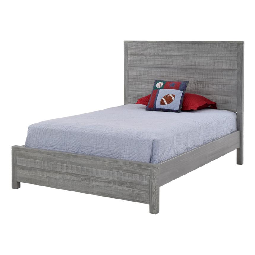 Montauk Gray Twin Bed Made in Brazil  main image, 1 of 5 images.