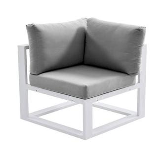 Mykonos Gray Corner Chair