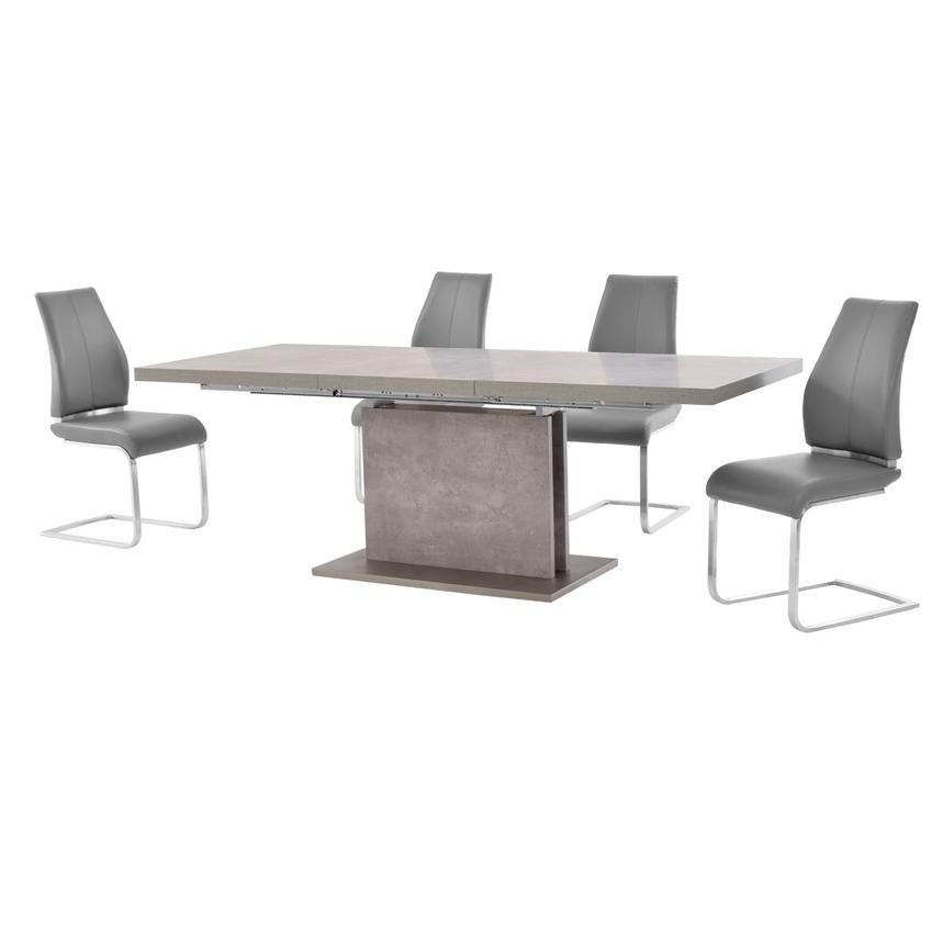 Kalinda/Maday Gray 5-Piece Formal Dining Set  alternate image, 2 of 12 images.
