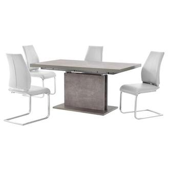 Kalinda/Maday White 5-Piece Formal Dining Set