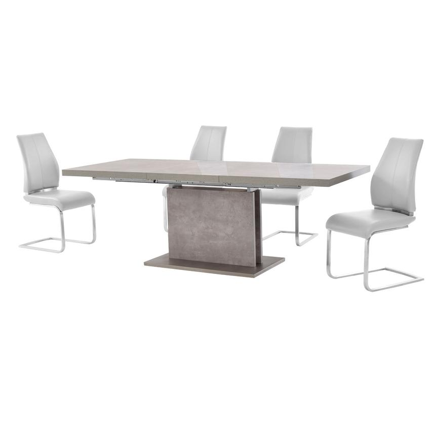 Kalinda/Maday White 5-Piece Formal Dining Set  alternate image, 2 of 11 images.