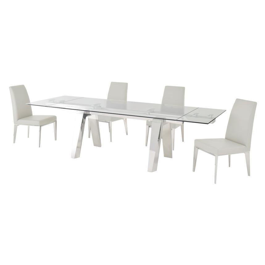 Madox White 5-Piece Formal Dining Set  alternate image, 2 of 12 images.