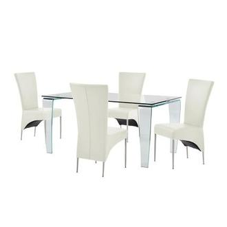Vera/T-Cream 5-Piece Casual Dining Set