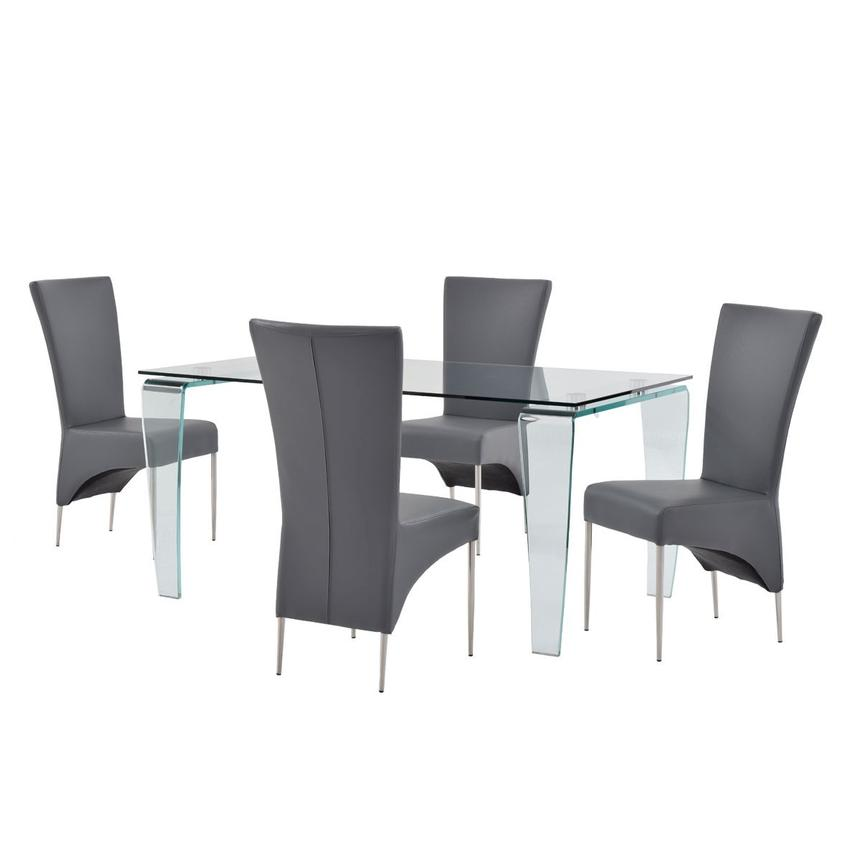 Vera/T-Gray 5-Piece Casual Dining Set  main image, 1 of 12 images.