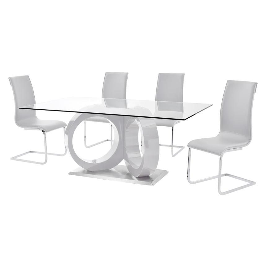 Stop 36 White 5-Piece Formal Dining Set  alternate image, 2 of 10 images.