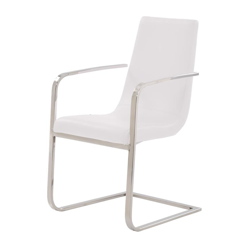 Lea White Arm Chair  alternate image, 2 of 6 images.