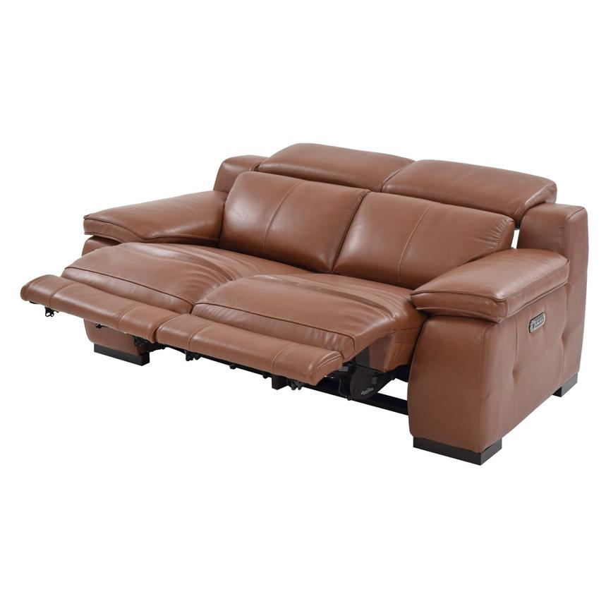Gian Marco Tan Power Motion Leather Loveseat  alternate image, 2 of 9 images.