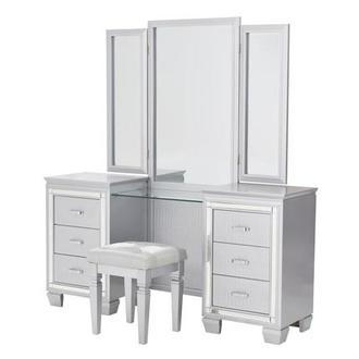 Isabel Gray Vanity w/Bench