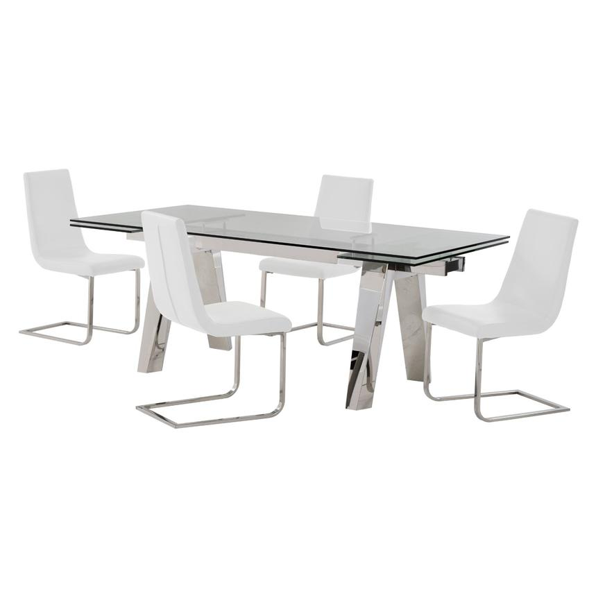 Madox/Lea White 5-Piece Formal Dining Set  main image, 1 of 11 images.