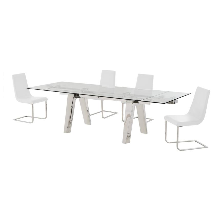 Madox/Lea White 5-Piece Formal Dining Set  alternate image, 2 of 11 images.